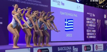 """Artistic Swimming Olympic Qualifier – Greece's """"Cats"""" 🐈"""